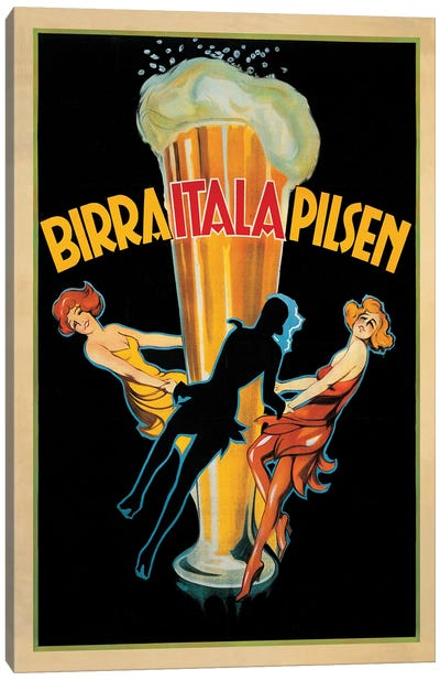 Birra Itala Pilsen, 1920 Ca. Canvas Art Print