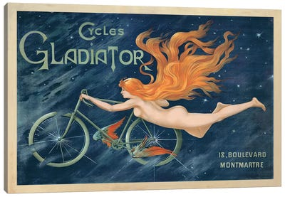 Cycles Gladiator, 1895 Ca. Canvas Art Print