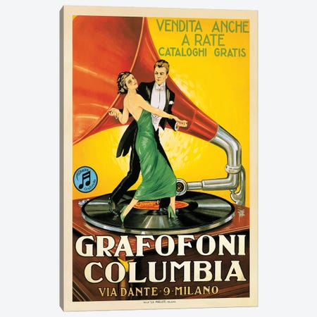 Grafofoni Columbia, 1920 Ca. Canvas Print #TAP29} by Top Art Portfolio Canvas Wall Art