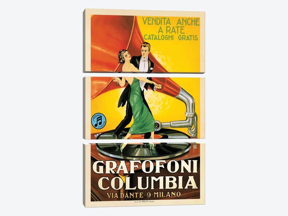 Grafofoni Columbia, 1920 Ca. by Top Art Portfolio 3-piece Canvas Art
