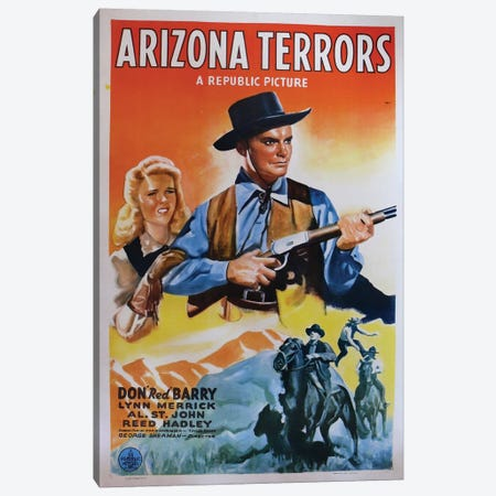 Arizona Terrors (1942) Movie Poster Canvas Print #TAP2} by Top Art Portfolio Canvas Print