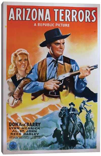 Arizona Terrors (1942) Movie Poster Canvas Art Print