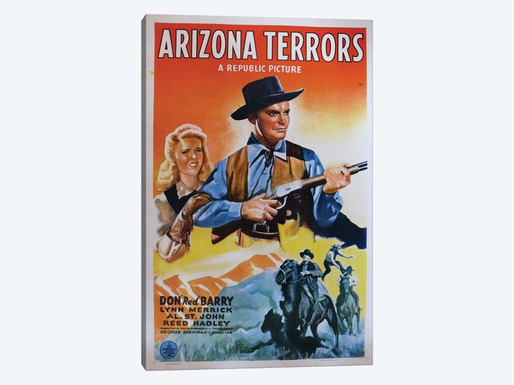 Arizona Terrors (1942) Movie Poster by Top Art Portfolio 1-piece Canvas Art