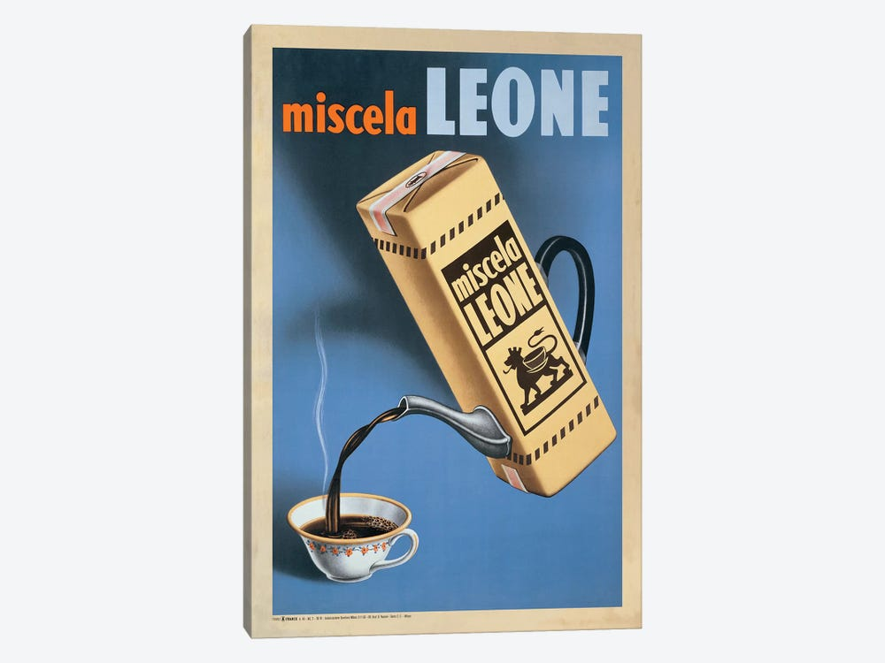 Miscela Leone, 1950 by Top Art Portfolio 1-piece Canvas Wall Art