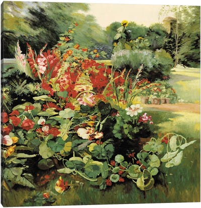 Vue du Jardin Canvas Art Print