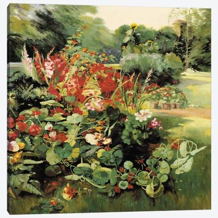 Vue du Jardin Canvas Print #TAP34} by Top Art Portfolio Canvas Wall Art