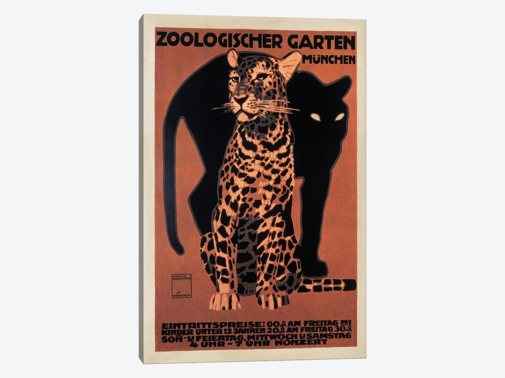 Zoologischer Garten, 1912 by Top Art Portfolio 1-piece Canvas Art Print