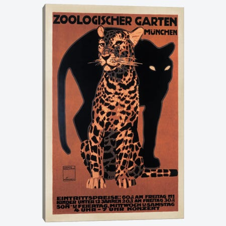 Zoologischer Garten, 1912 Canvas Print #TAP35} by Top Art Portfolio Canvas Art