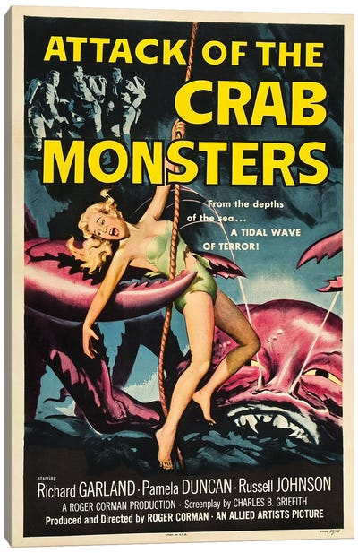 Attack Of The Crab Monsters (1957) Movie Poster Canvas Art Print