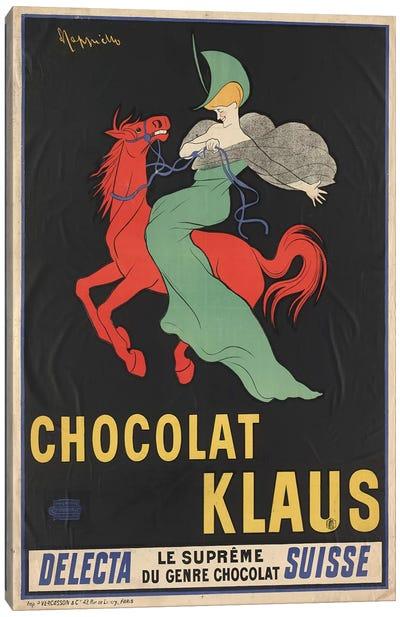 Chocolat Klaus Vintage Print Canvas Art Print