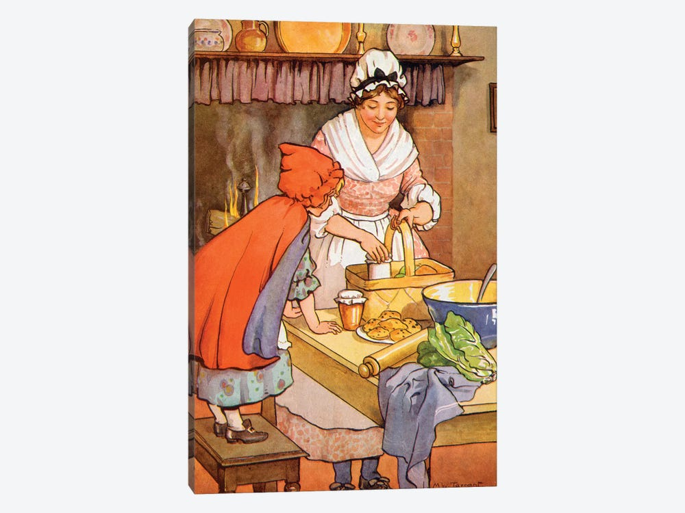 Little Red Riding Hood II by Margaret Tarrant 1-piece Canvas Art Print