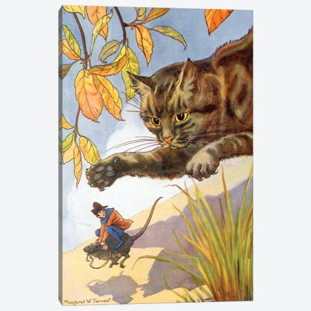 Jack & The Beanstalk II Canvas Print #TAR9} by Margaret Tarrant Art Print