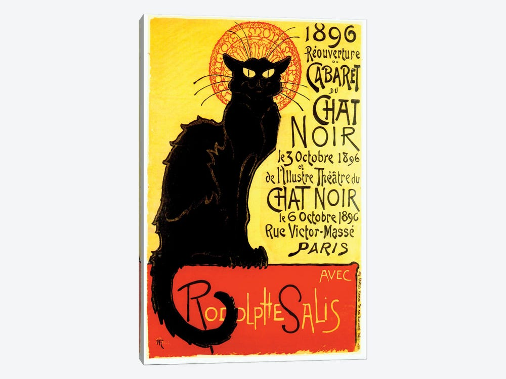 Cabaret du Chat Noir, 1896 1-piece Canvas Artwork