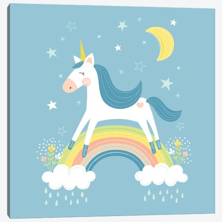 Unicorn Magic I Canvas Print #TAU11} by Alison Tauber Canvas Wall Art