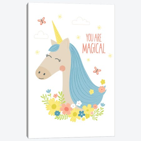 Unicorn Magic II Canvas Print #TAU12} by Alison Tauber Canvas Artwork