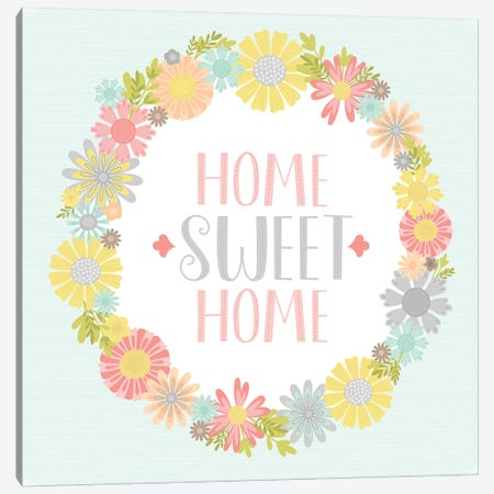 Home Sweet Home Canvas Print #TAU5} by Alison Tauber Art Print