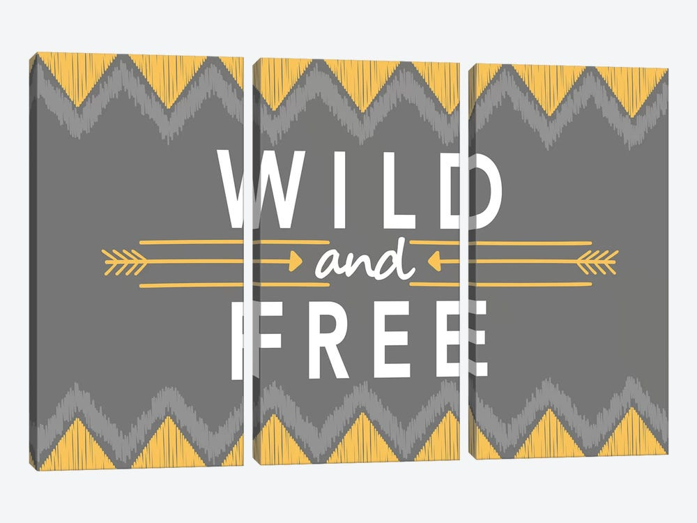 Wild And Free by Alison Tauber 3-piece Canvas Wall Art