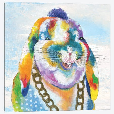 Groovy Bunny and Sky Canvas Print #TAV100} by Tava Studios Canvas Artwork