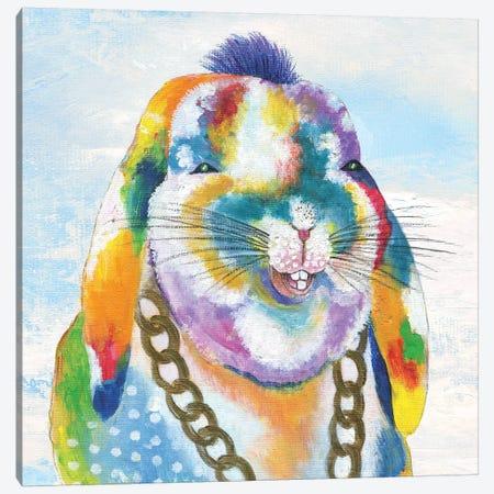 Groovy Bunny and Sky Canvas Print #TAV100} by Tava Studios Canvas Artwork
