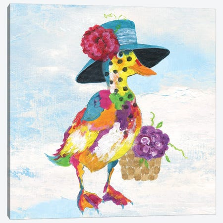 Groovy Duck and Sky Canvas Print #TAV103} by Tava Studios Canvas Wall Art