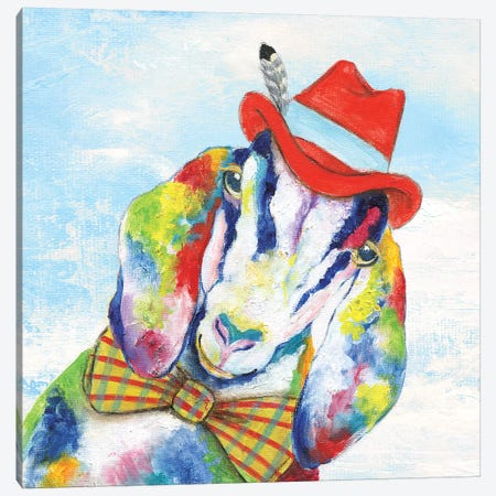 Groovy Goat and Sky Canvas Print #TAV104} by Tava Studios Canvas Art Print