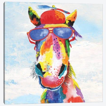Groovy Horse and Sky Canvas Print #TAV105} by Tava Studios Art Print
