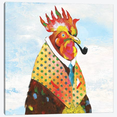 Groovy Rooster and Sky Canvas Print #TAV107} by Tava Studios Art Print
