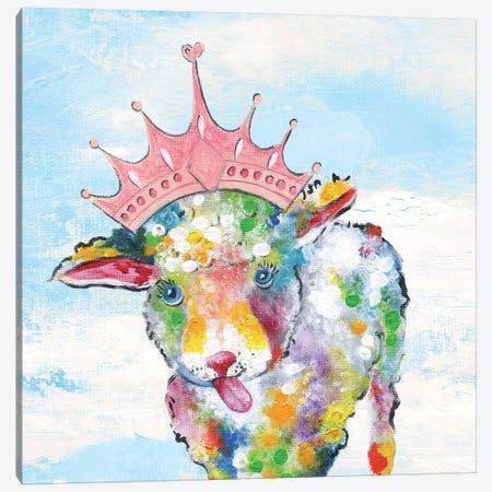 Groovy Sheep and Sky Canvas Print #TAV108} by Tava Studios Canvas Art