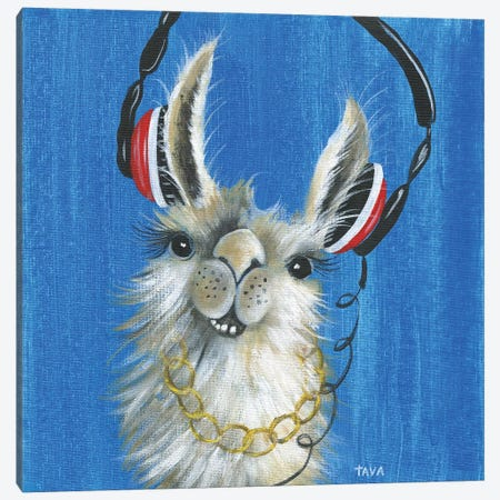 Llama Jammin' 3-Piece Canvas #TAV119} by Tava Studios Art Print