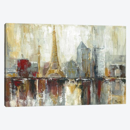 Paris Icons Canvas Print #TAV11} by Tava Studios Art Print