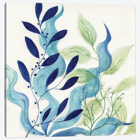 Blue Coral I Canvas Print #TAV130} by Tava Studios Canvas Print