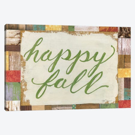 Happy Fall Canvas Print #TAV13} by Tava Studios Canvas Print