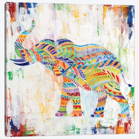Magical Elephant Canvas Print #TAV143} by Tava Studios Canvas Wall Art