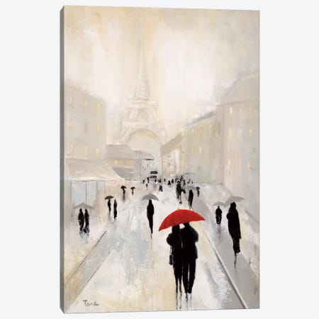Misty In Paris Canvas Print #TAV14} by Tava Studios Canvas Wall Art
