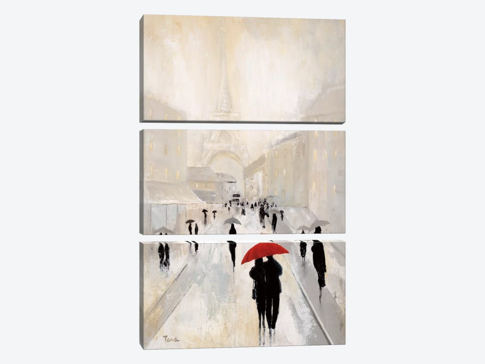 Misty In Paris by Tava Studios 3-piece Canvas Wall Art
