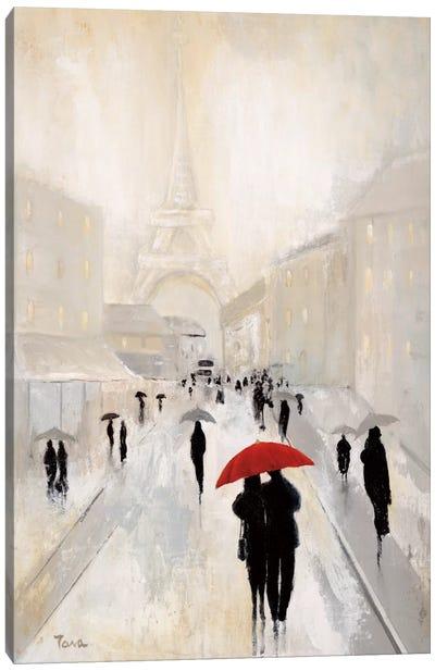 Misty In Paris Canvas Art Print