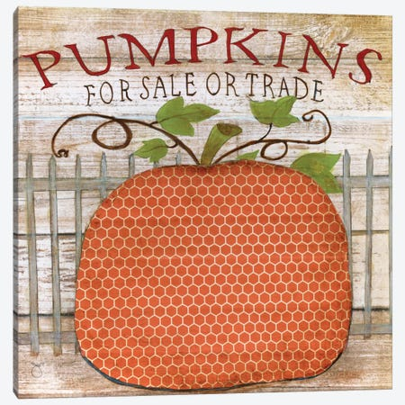 Pumpkins For Sale Canvas Print #TAV16} by Tava Studios Canvas Wall Art