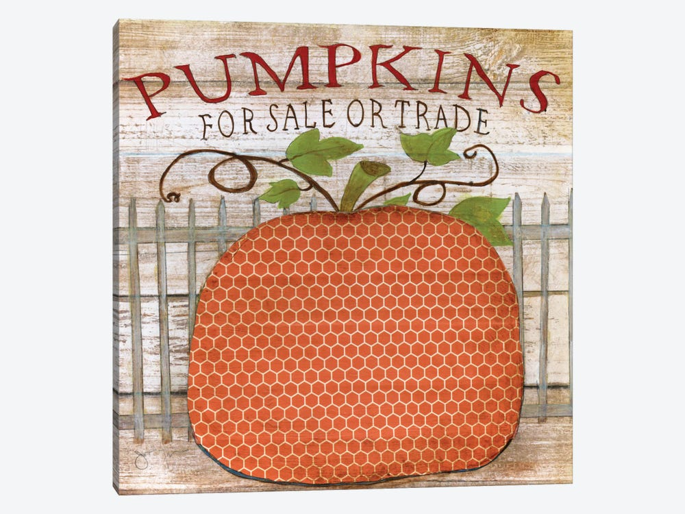 Pumpkins For Sale by Tava Studios 1-piece Canvas Art