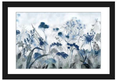 Inky Indigo Framed Art Print