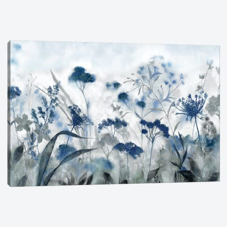 Inky Indigo 3-Piece Canvas #TAV171} by Tava Studios Canvas Print