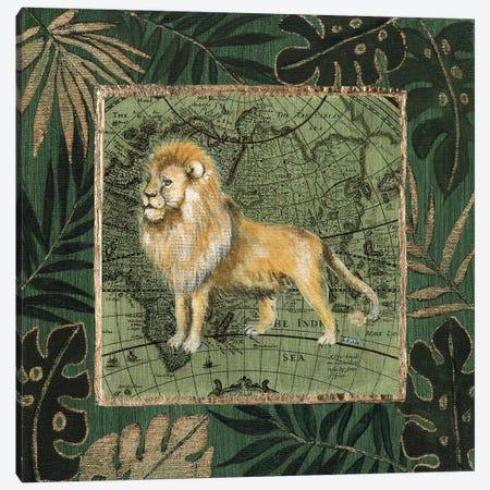 Jungle Lion Canvas Print #TAV173} by Tava Studios Canvas Art Print