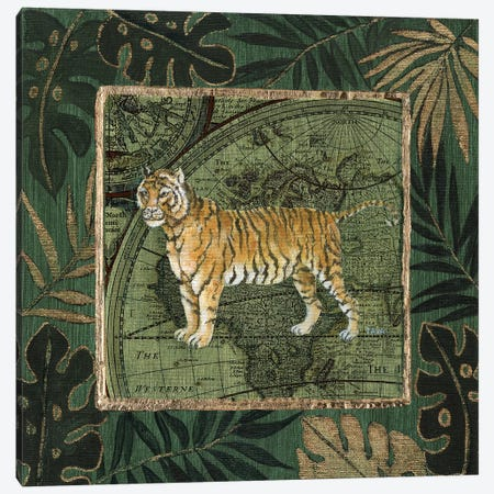 Jungle Tiger Canvas Print #TAV174} by Tava Studios Canvas Wall Art