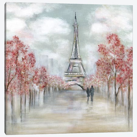 Paris in Springtime Canvas Print #TAV178} by Tava Studios Canvas Art Print