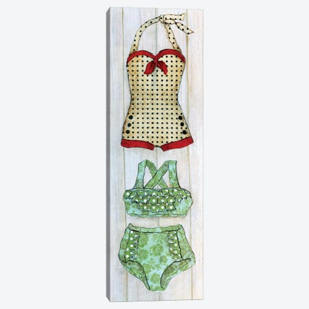 Vintage Bathing Suit Detail II Canvas Print #TAV192} by Tava Studios Art Print