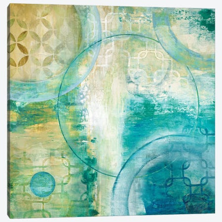 Teal Aire I Canvas Print #TAV20} by Tava Studios Canvas Wall Art