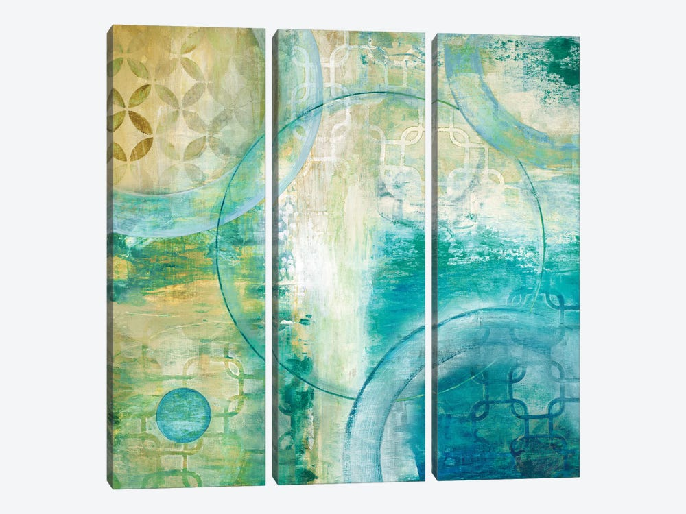 Teal Aire I by Tava Studios 3-piece Art Print