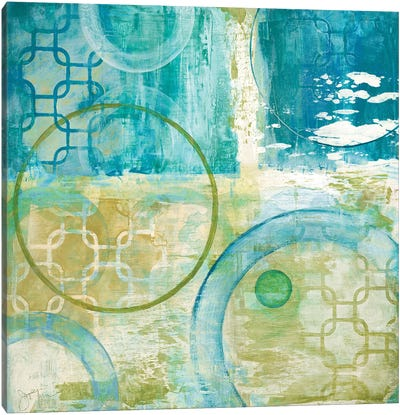 Teal Aire II Canvas Art Print