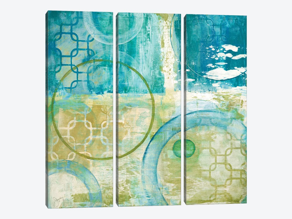 Teal Aire II by Tava Studios 3-piece Canvas Wall Art