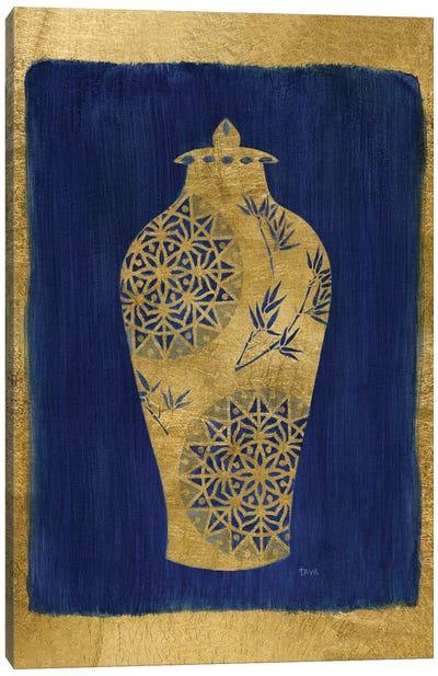 Sapphire and Gold Urn II Canvas Art Print