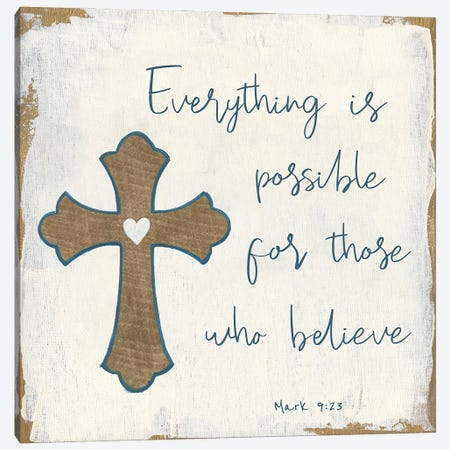 Everything is Possible 3-Piece Canvas #TAV234} by Tava Studios Art Print